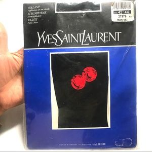 NWT Yves Saint Laurent Pantyhose Tights Cherries